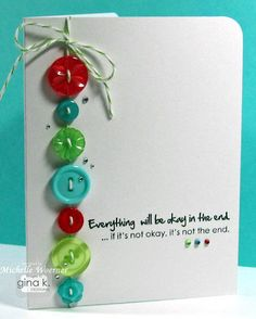 Buttons and baker's twine? A perfect match! What a fun card.