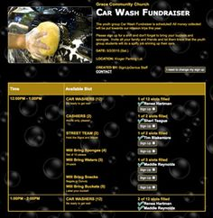 Use an online sign up to make it simple for youth and parents to lend a hand at your car wash fundraiser.