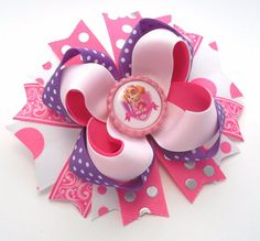 Skye Paw Patrol Boutique Handmade Hair Bow by JustinesBoutiqueBows