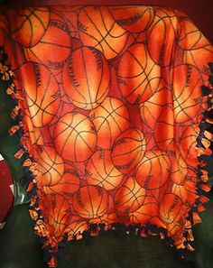 Tied Basketball sports blanket, great for any teen. Plush and warm, you'll love it! Forever Baby USA