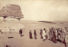 , Daily life, Giza, Egypt, Sphinx, Women 1880