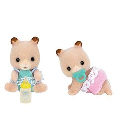Another great find on #zulily! Fluffy Hamster Twin Toy Set #zulilyfinds