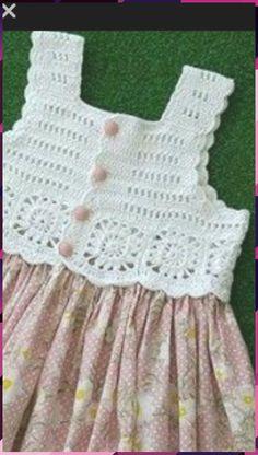 Trendy Crochet Clothes For Women Summer Crochet - Diy Crafts - DIY & Crafts Crochet Yoke, Crochet Vest Pattern, Crochet Fabric, Cotton Crochet, Crochet Patterns, Crochet Poncho, Crochet Dress Girl, Baby Girl Crochet, Crochet Baby Clothes