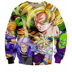 Dragon Ball Z Warriors Crewneck Sweatshirt Goku anime Characters Women Men 3d Jumper Fashion Clothing Hoodies Sweats Tops