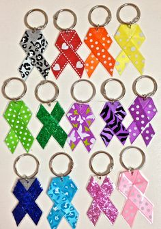 Awareness Keychains by HandfulOfHope on Etsy, $4.00