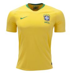 Brazil 2018 World Cup Home Men Soccer Jersey Personalized Name and Number -  zorrojersey Mls Soccer 1634ce161