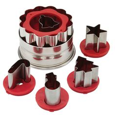 Cake Boss Decorating Tools Holiday 6-piece Linzer Cookie Cutter Set