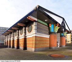 A pumping station designed by John Outram has been Grade II* listed, in a move that Historic England hopes will see other postmodern buildings recognised London Docklands, Car Station, Tower Hamlets, Isle Of Dogs, London Landmarks, Listed Building, Greater London, Pumping, Modern Architecture