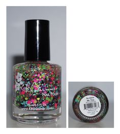 KB Shimmer Scribble Me This - Bright Neon Glitter with Small Black Dots