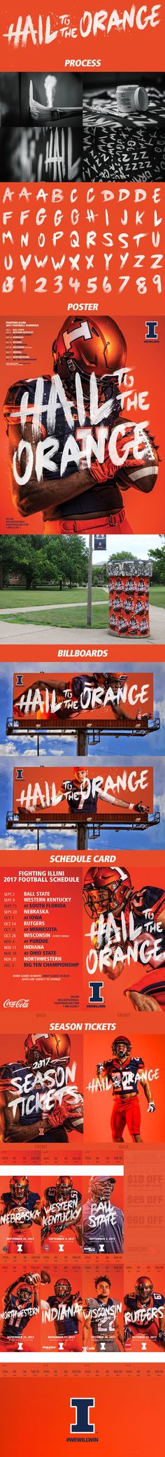 """Check out this @Behance project: """"2017 Fighting Illini Football Creative"""" https://www.behance.net/gallery/54183847/2017-Fighting-Illini-Football-Creative"""