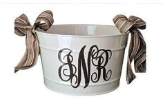 Monogramed bucket