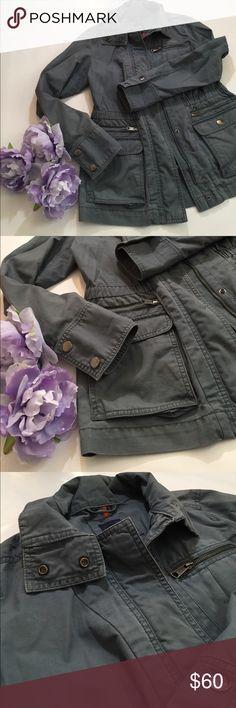 GAP /  jacket / military style / grayish blue GAP /  jacket / military style / grayish blue / perfect for spring or summer nights GAP Jackets & Coats