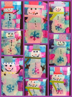 Sharpies,+paint,+and+paper!+Oh+my!:+Snowmen+and+Penguins!