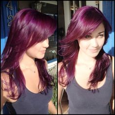 I really like this purplish burgandy for highlights with super dark brown this fall/winter.
