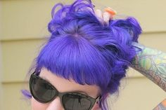 Bright purple hair #bright #neon #hair