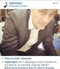 With Gio Ferrigno our jacket in cool wool cashmere more by FF