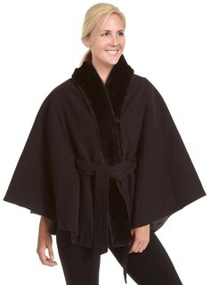 Shop for Excelled Women's Plus Faux Wool Belted Cape. Get free delivery On EVERYTHING* Overstock - Your Online Women's Clothing Destination!