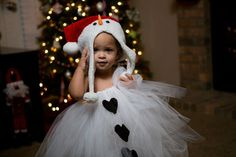 Adorable Snowman Tutu Dress and Hat by posiesnpinwheels on Etsy, $45.00
