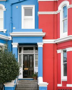 Colorful houses in Notting Hill, London