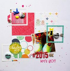 """Andrine og Marens Landhandleri - Blog - """" 2015 Let's GO!!"""" layout created by Dt Stine. Letting Go, Scrapbooking, Layout, Kids Rugs, Joy, Create, Home Decor, Decoration Home, Page Layout"""