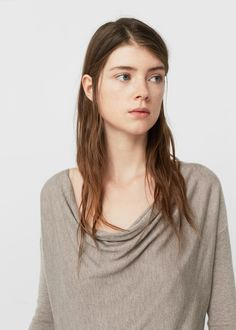 Cowl neck sweater -  Women | MANGO USA