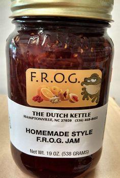 FROG JAM Dutch Kettle Homemade Style Frog Jam BEST IN THE SOUTH 19oz Pint #DutchKettle