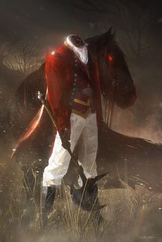 The Headless Horseman by Grivetart on deviantART -- this is awesome