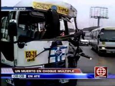América Noticias: Cúster del 'Chosicano' ocasionó múltiple choque en la Carretera Central