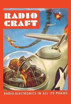 Radio-Craft: Fighter Plane 12x18 Giclee on canvas