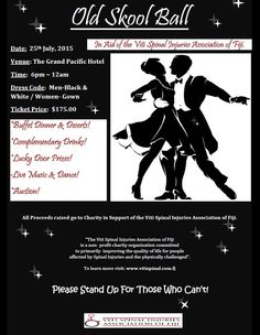 #Fiji #Events A grand ball at the Grand Pacific Hotel to help stand up for those who literally cant. Today In Fiji #VSIAF