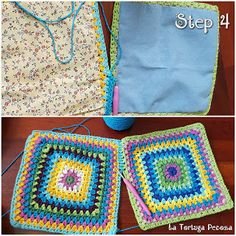"""New Cheap Bags. The location where building and construction meets style, beaded crochet is the act of using beads to decorate crocheted products. """"Crochet"""" is derived fro Crochet Girls, Love Crochet, Bead Crochet, Crochet Motif, Crochet Patterns, Drawstring Bag Tutorials, Crochet Bag Tutorials, Tutorial Crochet, Granny Square Bag"""