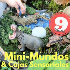 Nuestros Mini-Mundos y Cajas Sensoriales. Mini Mundo, Small World Play, Baby Play, Infant Activities, Lps, Montessori, Dinosaur Stuffed Animal, Classroom, Christmas Ornaments