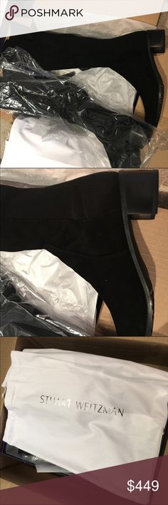 "Stuart Weitzman 5050 Reserve OTK boots Size 9.5, pristine condition. I'm 5'11 and if you are shorter than me, these will look better on you.  A spin on the iconic 5050: These just-over-the-knee boots feature the signature SW micro stretch back, with a nappa or suede front shaft, finished with a block heel.   Made in Spain  Heel height: 1.75"", 40mm  Figure-skimming just-to-the-knee block heel boot  A member of the iconic 5050/back stretch family Its unique design pairs a micro stretch back"