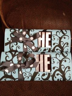 "Hershey Bar baby shower favors, Uncover the ""s"" for ""she and make them purple or pink"