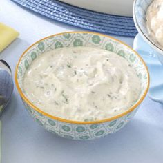 Deli Sandwich Spread Recipe -Creamy, chivy and tangy, this sandwich spread would also be delicious as a dip. Just 10 minutes to whip up, and it chills as you finish preparing the rest of the meal. —Cathy Tang, Redmond, Washington