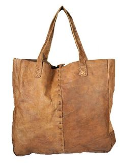 Extra large leather tote bag. Handmade with organically cured buffalo leather.    Dimensions 17″ x 16″ x 3″    Made in Nepal    zzrox.com