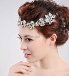 FOR BACK OF HAIR  Wholesale Bridal Accessories - Buy Stunning Shinny Crystal Bridal Forehead Headpieces Head Piece Headwear Crown Tiara for Wedding Events In Stock, $21.88 | DHgate