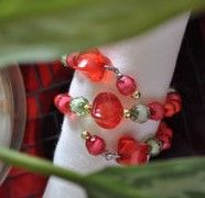 How to make Napkin Rings - Beaded - DIY Craft Project with instructions from Craftbits.com