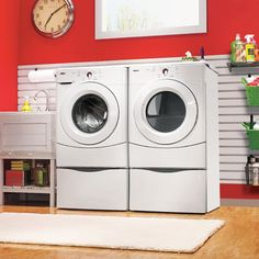 laundry room in garage