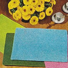 Free+Crochet+Placemat+Patterns | Beginners Simple Placemats, Free Crochet Pattern