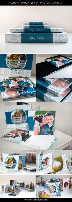 Versatile album templates for photographers that every client will love!   #designaglow