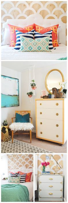 Unique and Colorful Master Bedroom Makeover - www.classyclutter.net