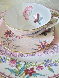 pastel flowered china