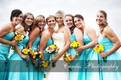 """turquoise and butter yellow wedding 