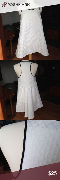 DO + BE white halter dress with pockets This is a very unique and versatile white dress by DO + BE. Purchased at a boutique. It's very flattering and could fit a 8 to a 12. Pockets! Fabric has a checkered texture. You never have to iron this dress; it doesn't wrinkle! Do & Be Dresses High Low