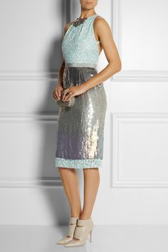MATTHEW WILLIAMSON Sequined organza dress $3,695