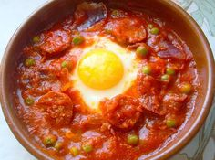 Varomeando: Huevos a la flamenca