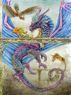 DeviantArt: More Like water dragon by Vasylina Dragon Images, Dragon Pictures, Beautiful Dragon, Beautiful Fantasy Art, Fantasy Creatures, Mythical Creatures, Dragon Medieval, Dragon Heart, Dragon Bones