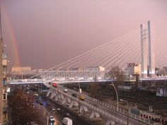 Rainbow over Basarab bridge, Bucharest, Romania (photo Diana Murgan via Bucuresti Optimist)