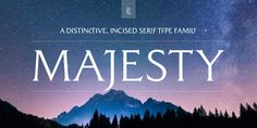 Check out the Majesty font at Fontspring.